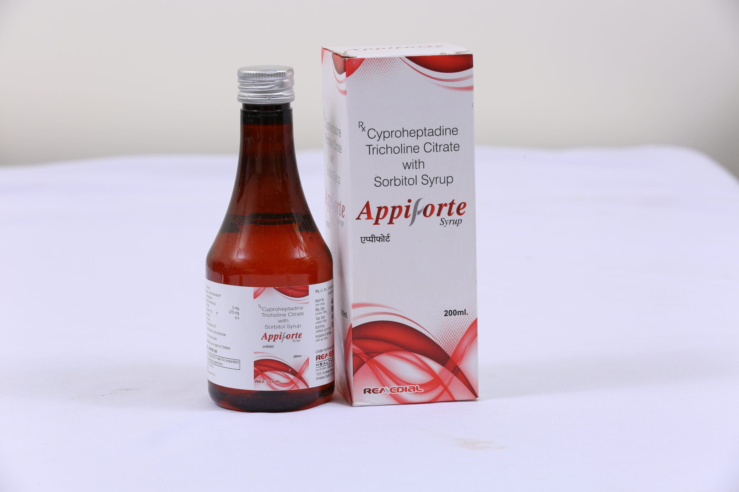 APPIFORTE (Cyproheptadine HCl + Tricoline Citrate + Sorbitol solu)