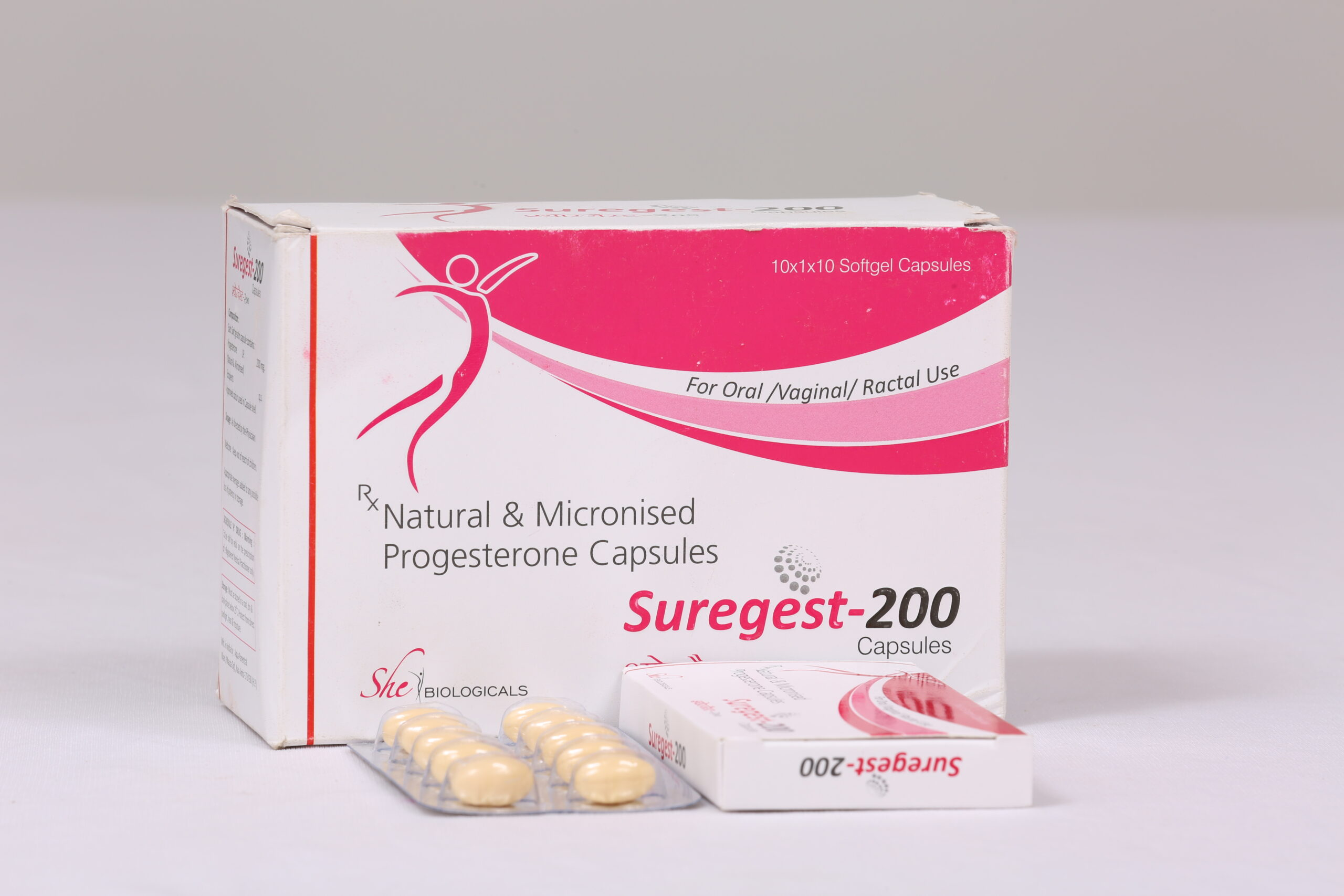 SUREGEST-200 (Natural Micronised Progestrone 200 mg)